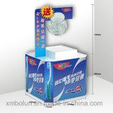 Estante modificado para requisitos particulares del suelo de la cartulina que hace publicidad del estante para la crema dental