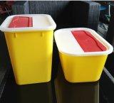 Compartimiento sostenido Wastebin del uso médico del envase sostenido cuadrado de la basura