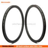 最もよい中国カーボンBMXバイクは縁を20インチの軽量の後部および前部縁動かす