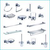 Отделка установленная стеной латунной ванной комнаты стеклянная полки крома 6303