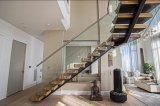 가정 사용 L 모양 똑바른 계단 강철 목제 층계 디자인