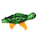 Tubo de cristal de cristal de cristal de la cuchara de la tortuga de mar del tubo de la mano del tubo que fuma