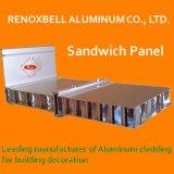 赤いカシ木製のパネルの代理のためのアルミニウムサンドイッチパネル