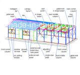 Casa pré-fabricados portáteis de baixo custo com aplicação extensiva/contentor House para escritório temporário