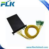 Divisor óptico fundido cassette del PLC de fibra del acoplador de 2*8 Lgx