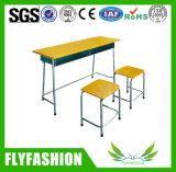 La madera de doble estudiante moderno escritorio y silla (SF-08D)