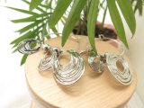 좋은 판매인 모조 은을%s 가진 금관 악기 구리에 있는 종교적인 보석 원형 귀걸이