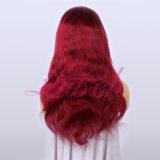 Haut de la vente #1b Burg corps couleur vague perruque de cheveux humains péruvien