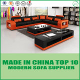 余暇のDivan様式のLetherのソファーベッド