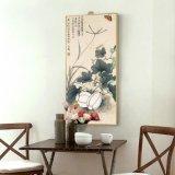 زخرفة زهرة فنية صورة زيتيّة مع إطار لأنّ زخرفة بيتيّة