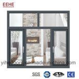 Окно двойной застеклять главного качества алюминиевое для передвижной дома