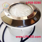 Acero inoxidable ligero subacuático 280m m (LP09-S280) de la luz LED de la piscina del LED