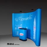 El PVC publicitario de aluminio del estante de visualización magnético surge la cabina de la exposición