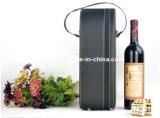 Zak van de Gift van de Wijn van Champagne van het Geval van de Carrier van de Fles van het Leer van Pu de Enige