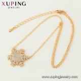 44460 het Goud van de manier 18K plateerde van 50 de Halsband van de Ketting van Figaro Van de cm- Lengte Juwelen voor Mensen