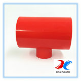 Standaardpvc die van DIN T-stuk met Rode Kleur verminderen