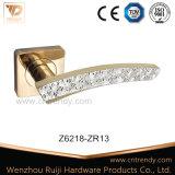 Het Handvat van de Hefboom van de Deur van de Legering van het Zink van Diamante op Vierkant Wapenschild (Z6175-ZR05)
