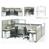 고품질 나무로 되는 직원 분할 현대 사무실 워크 스테이션