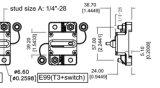 수동 리셋, 12V- 48V DC로 Trolling 50 AMP 회로 차단기는, 방수 처리한다 (50A)