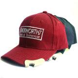 Изготовленный на заказ выдвиженческие бейсбольные кепки с консервооткрывателем бутылки ваш собственный логос