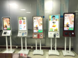 15.6, 17, 19, 22, 27, 32, 37, 43, 55 pulgadas con pantalla táctil quiosco de autoservicio en el suelo utilizado para la pantalla LCD táctil kiosko Ordermeal