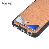 Het Geval van de Portefeuille van de Tik van de Schouderriem van het Leer van Crossbody met De Houder van de Creditcard voor iPhone X