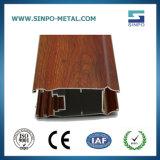 Деревянные зерна профиль из анодированного алюминия для украшения