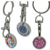 주문 금속 트롤리 열쇠 고리 (XDKC-01)를 가진 명목 동전 쇼핑 카트 Keychain