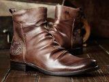 La dentelle de cheville en cuir de vache en daim jusqu'Boot