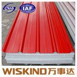 ISO-certifié panneau sandwich en laine de verre ignifuge pour toit