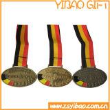 リボン(YB-LY-B-12)が付いているカスタム高品質メダルバッジ