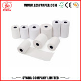 Roulis blanc de papier thermosensible de caisse comptable d'atmosphère de position
