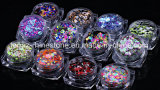 EinNagel 1 mischten gesetzte bunte ultradünne Nagelsequins-Spitzen Nagel-Funkeln Paillette 12 Maniküre-Nagel-Kunst-Dekorationen der Farben-DIY (ND-17)