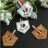 Custom Hot Salts Jean Brand Logo Embossed Leather Patches Labels for Clothing/Bags