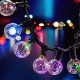 장식적인 크리스마스를 위한 G40 전구 포도 수확 안뜰 정원 빛 끈을%s 가진 지구 끈 빛
