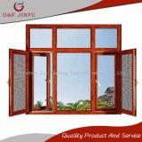 Wook como ventana esmaltada doble del marco del metal con la pantalla del insecto