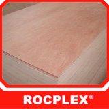 2440X1220 madeira compensada 17mm, madeira compensada de madeira de borracha do folheado
