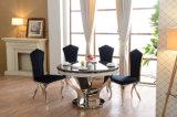 Eettafel van de Stijl van de luxe de Zwarte Marmeren met Stoelen
