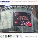 Visualizzazione di LED fissa completa esterna dell'installazione di colore P8 per la pubblicità del comitato dello schermo