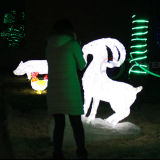 New 3D LED Sculpture Lights Christmas LED Snake Decoration Light