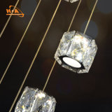 K9 lámpara cristalina cristalina brillante moderna de la lámpara del redondo LED