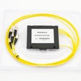 Wdm óptica MUX/DEMUX 1*4/8/16 canales, caja de plástico de fibra óptica CWDM