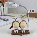 Lâmpada creativa da resina do diodo emissor de luz da promoção, lâmpada interna para o presente Home da decoração