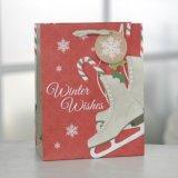 Weihnachtshandschuhpatten-heißer stempelnder Papierbeutel-Geschenk-Papierbeutel