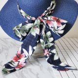 Mode personnalisé d'été Cap chapeau de paille avec Bow colorés