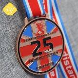 Marathon de métal de gros Jiu-Jitsu Bourses de taekwondo de football de l'exécution des médailles