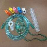 Masque à oxygène réglable remplaçable de venturi de PVC avec 5 diluants