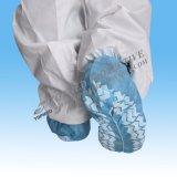 Coperchio non tessuto bianco/blu del pattino, a metà elastico o in pieno elastico