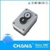 N/A+N/C 2 de la caja de control del interruptor de botón de lavado de muelle de retorno