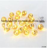 LED de mercurio bola de cristal de la luz de la cadena para unas vacaciones decoración iluminación